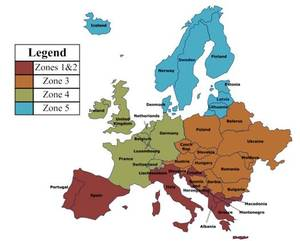 NZEB Definitions In Europe REHVA - Sweden climate zone map